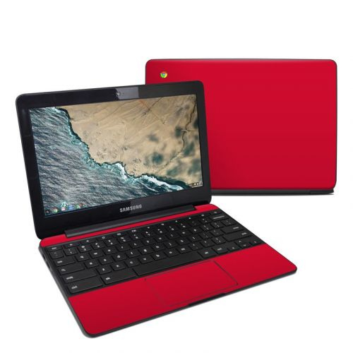 Solid State Red Samsung Chromebook 3 Skin