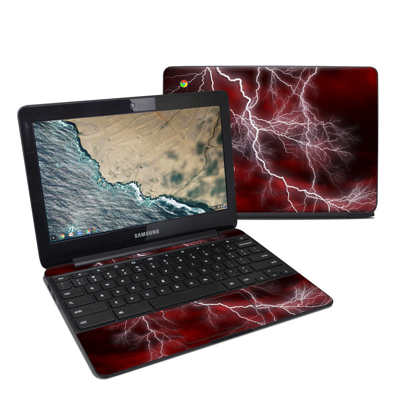 Apocalypse Red Samsung Chromebook 3 Skin