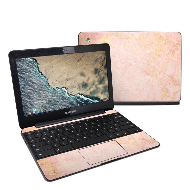 Rose Gold Marble Samsung Chromebook 3 Skin