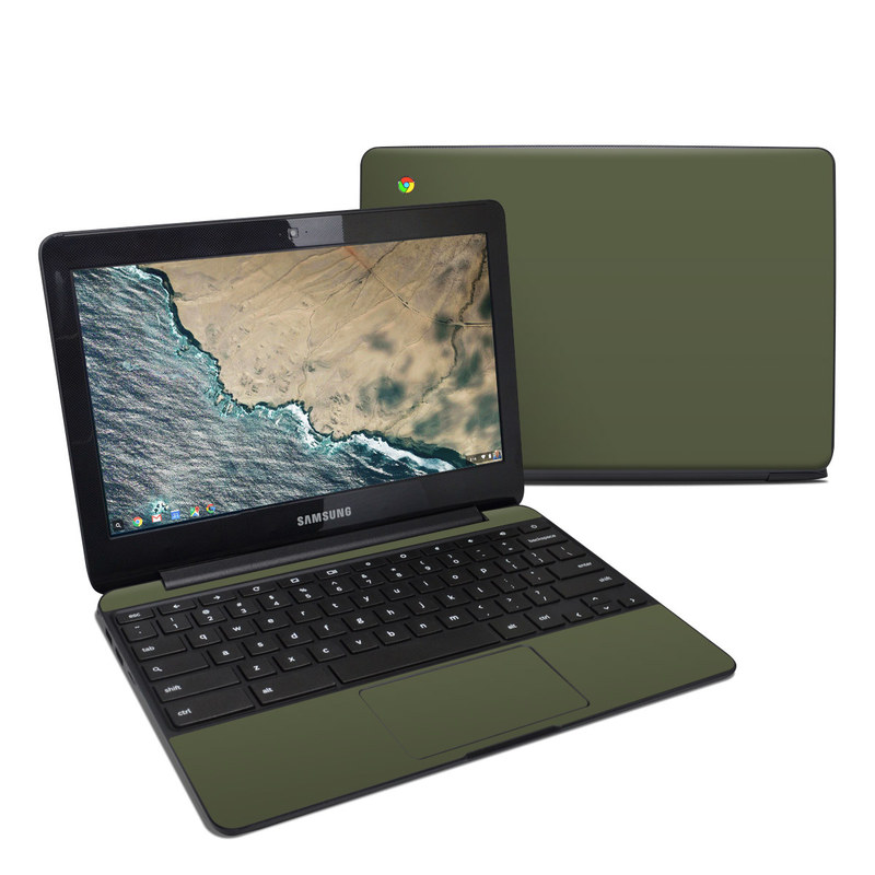 Solid State Olive Drab Samsung Chromebook 3 Skin