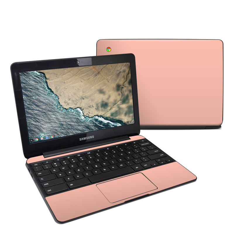 Solid State Peach Samsung Chromebook 3 Skin