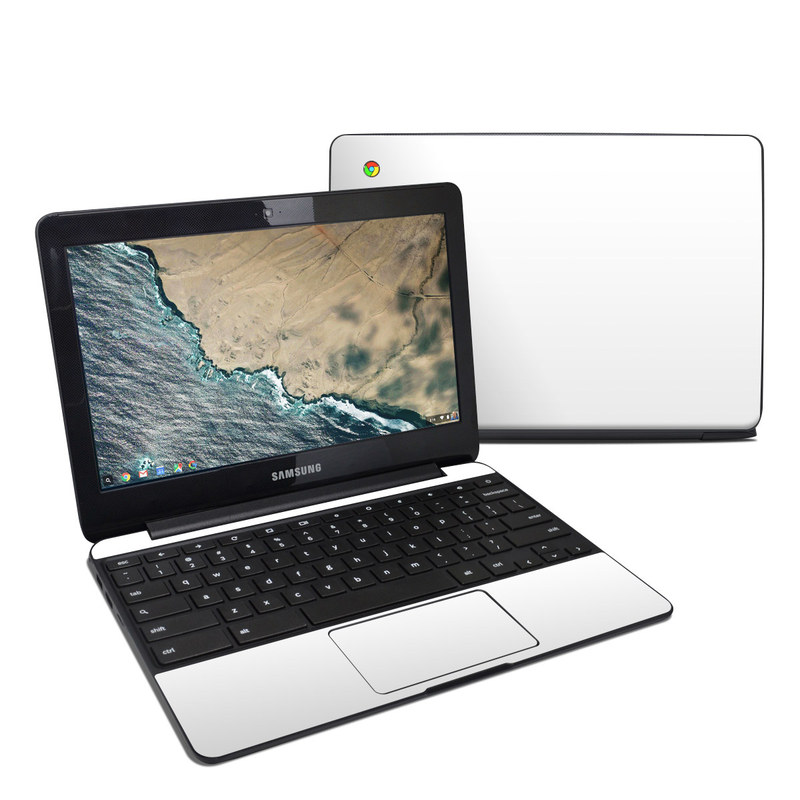 Solid State White Samsung Chromebook 3 Skin