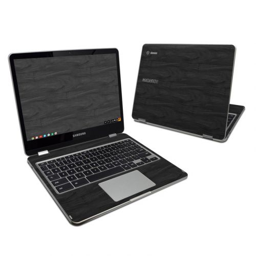 Black Woodgrain Samsung Chromebook Plus Skin