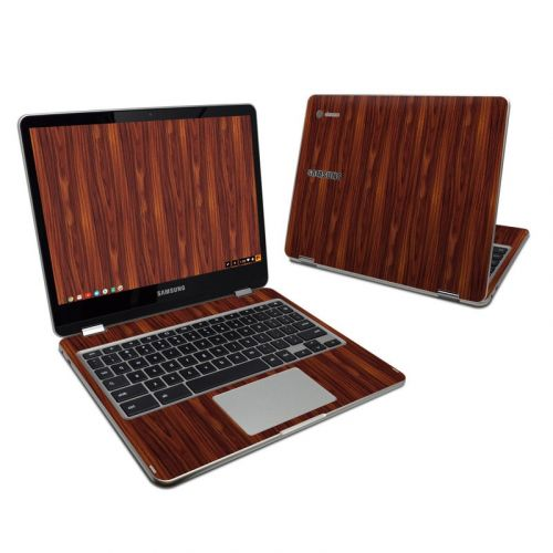 Dark Rosewood Samsung Chromebook Plus Skin