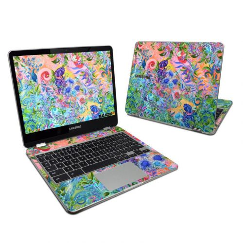Fantasy Garden Samsung Chromebook Plus 2017 Skin
