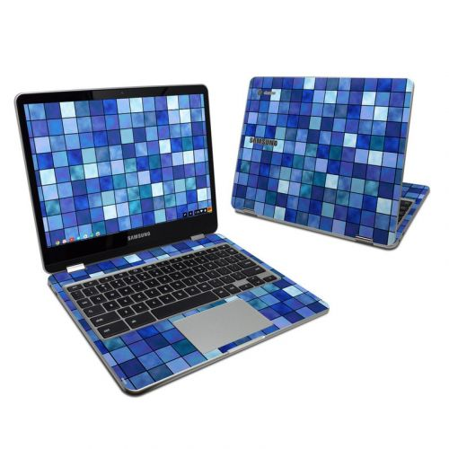 Blue Mosaic Samsung Chromebook Plus Skin