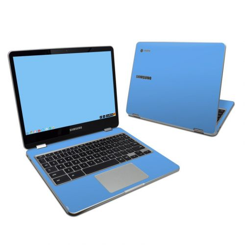 Solid State Blue Samsung Chromebook Plus Skin