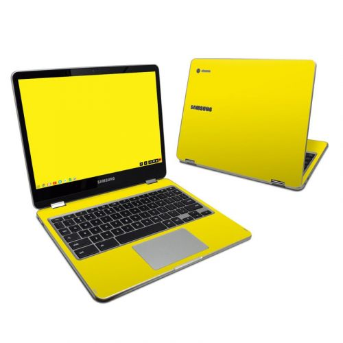 Solid State Yellow Samsung Chromebook Plus Skin
