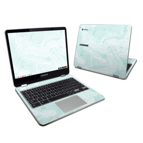 Winter Green Marble Samsung Chromebook Plus Skin