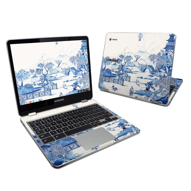 Blue Willow Samsung Chromebook Plus Skin