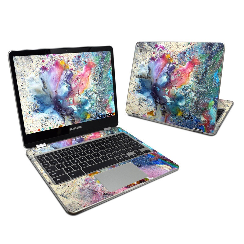 Cosmic Flower Samsung Chromebook Plus Skin