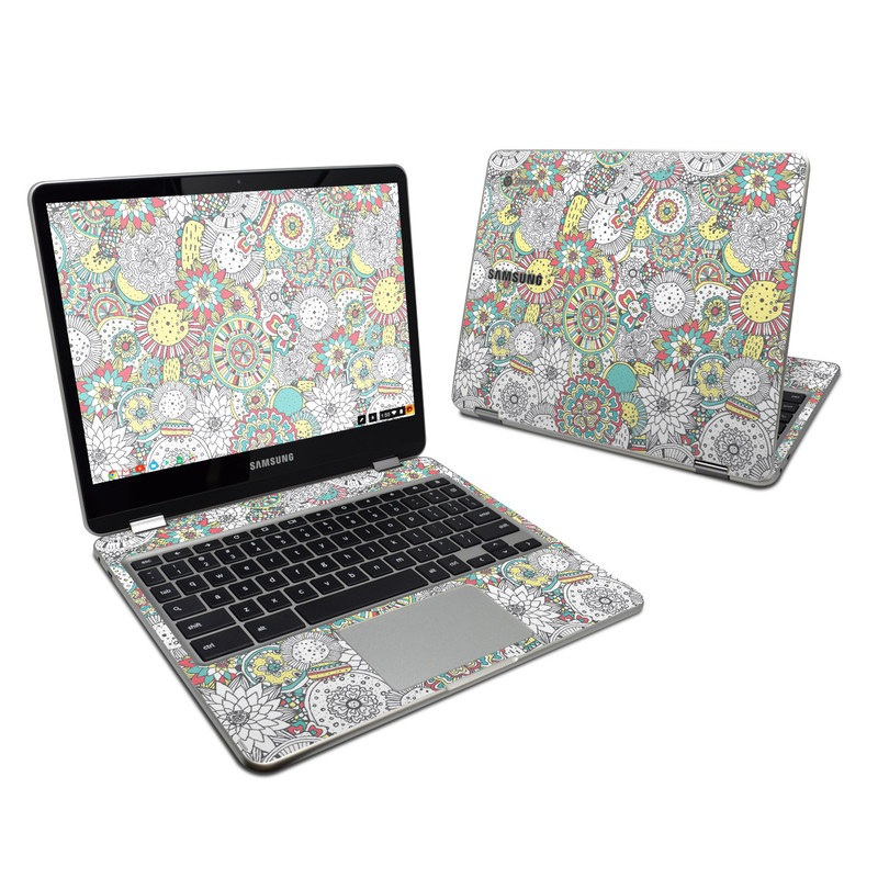 Faded Floral Samsung Chromebook Plus Skin