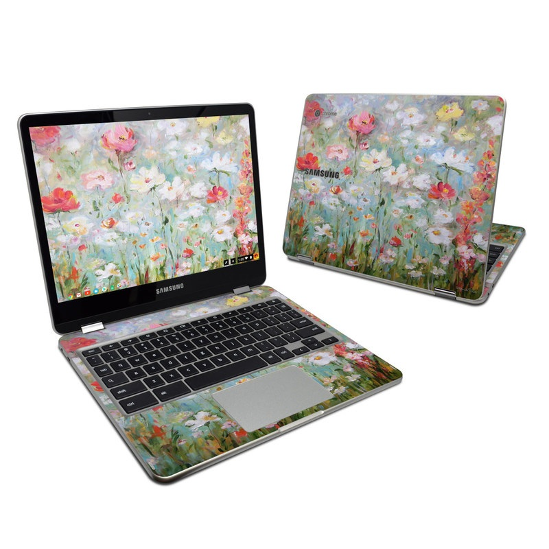 Flower Blooms Samsung Chromebook Plus Skin