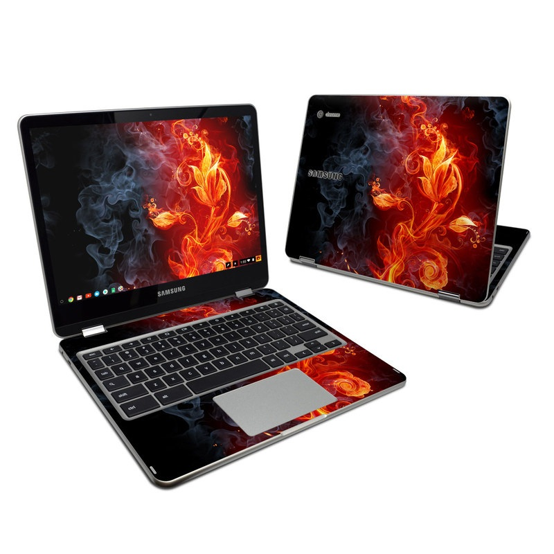 Flower Of Fire Samsung Chromebook Plus Skin