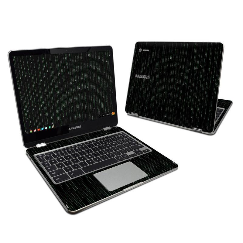 Matrix Style Code Samsung Chromebook Plus Skin