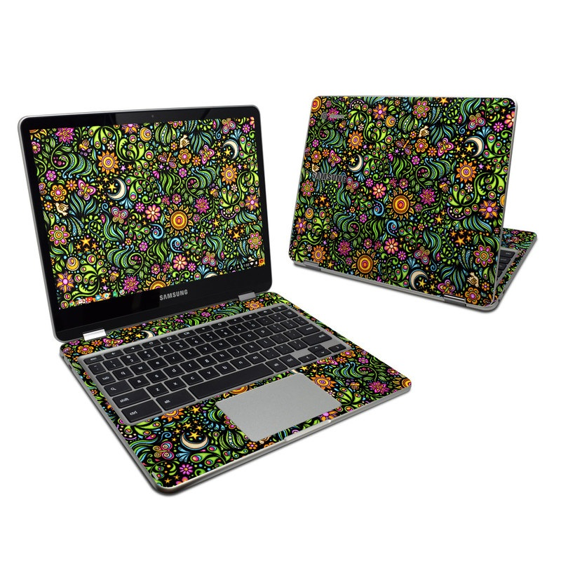 Nature Ditzy Samsung Chromebook Plus Skin