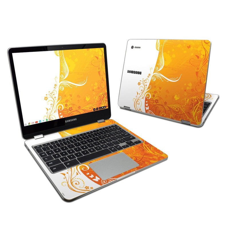 Orange Crush Samsung Chromebook Plus Skin