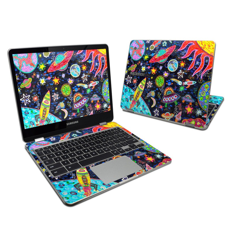 Out to Space Samsung Chromebook Plus Skin