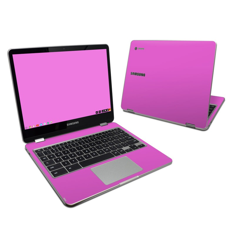 Solid State Vibrant Pink Samsung Chromebook Plus 2017 Skin