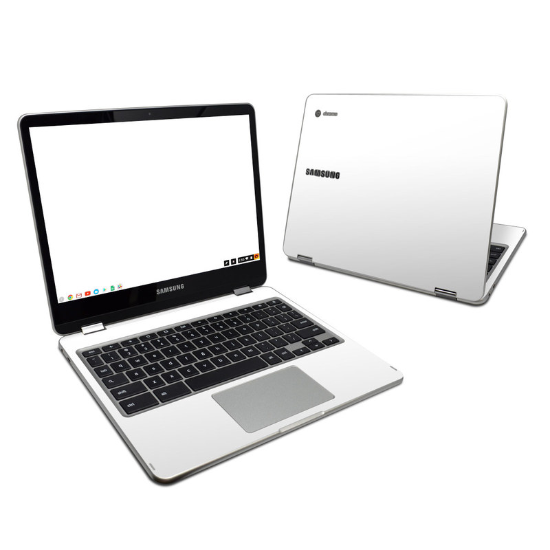 Solid State White Samsung Chromebook Plus Skin