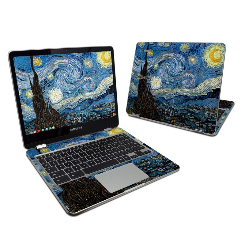 Starry Night Samsung Chromebook Plus Skin