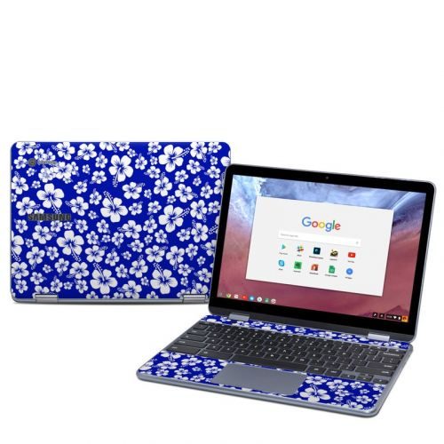 Aloha Blue Samsung Chromebook Plus 2018 Skin