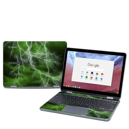 Apocalypse Green Samsung Chromebook Plus 2018 Skin