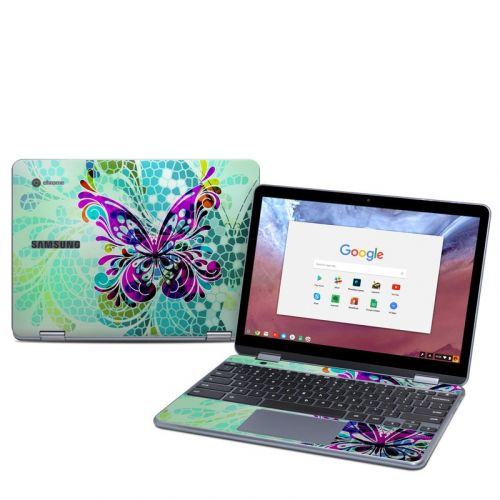 Butterfly Glass Samsung Chromebook Plus 2018 Skin