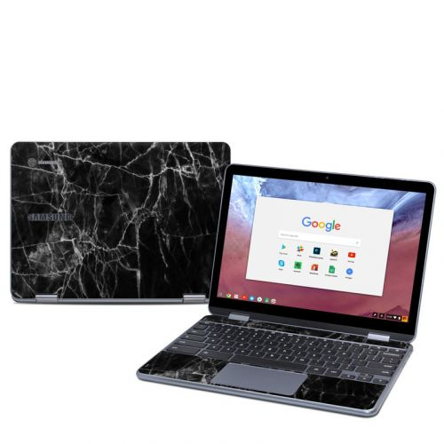 Black Marble Samsung Chromebook Plus 2018 Skin