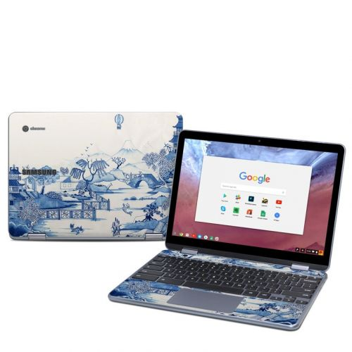 Blue Willow Samsung Chromebook Plus 2018 Skin