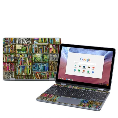 Bookshelf Samsung Chromebook Plus 2018 Skin
