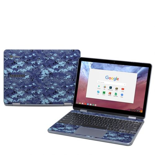 Digital Sky Camo Samsung Chromebook Plus 2018 Skin