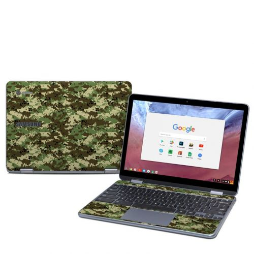 Digital Woodland Camo Samsung Chromebook Plus 2018 Skin