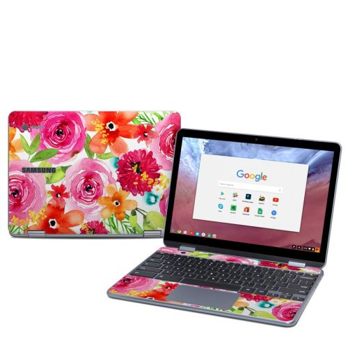 Floral Pop Samsung Chromebook Plus 2018 Skin