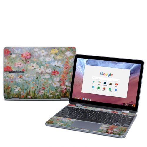 Flower Blooms Samsung Chromebook Plus 2018 Skin