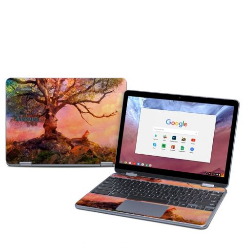 Fox Sunset Samsung Chromebook Plus 2018 Skin
