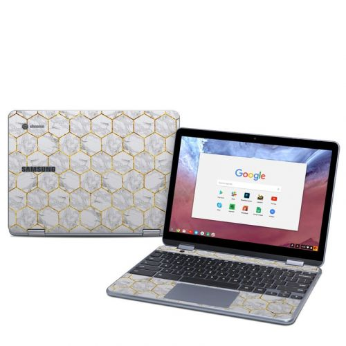 Honey Marble Samsung Chromebook Plus 2018 Skin