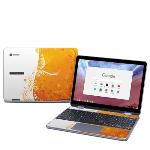 Orange Crush Samsung Chromebook Plus 2018 Skin