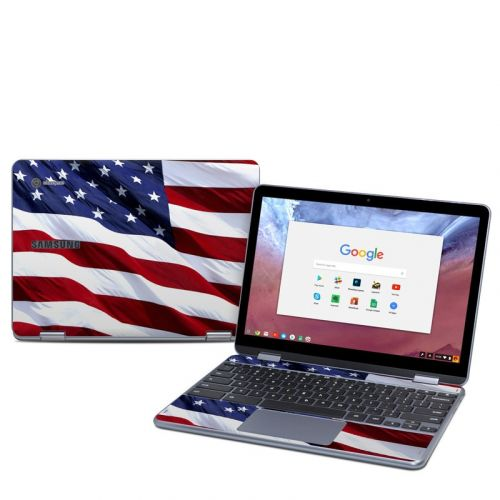 Patriotic Samsung Chromebook Plus 2018 Skin