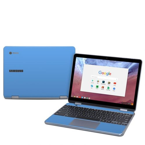 Solid State Blue Samsung Chromebook Plus 2018 Skin