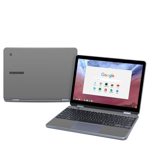 Solid State Grey Samsung Chromebook Plus 2018 Skin