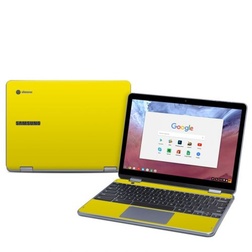 Solid State Yellow Samsung Chromebook Plus 2018 Skin