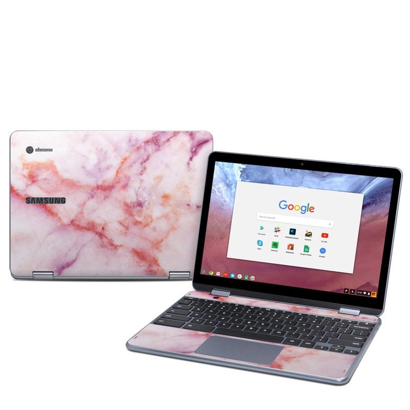 Samsung Chromebook Plus 2018 Skin design of Pink, Skin, Flesh, Textile, Fur with pink, red, white, purple, orange colors