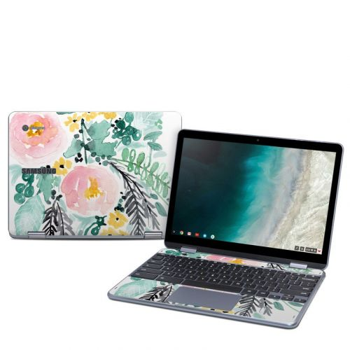 Blushed Flowers Samsung Chromebook Plus 2019 Skin