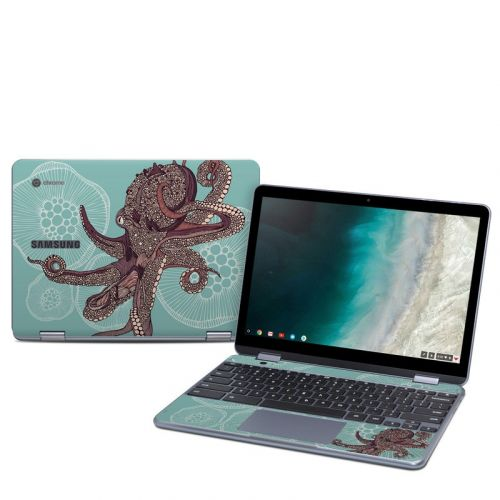 Octopus Bloom Samsung Chromebook Plus 2019 Skin