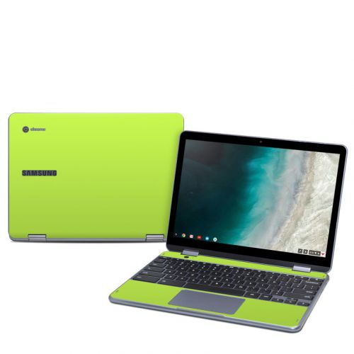 Solid State Lime Samsung Chromebook Plus 2019 Skin
