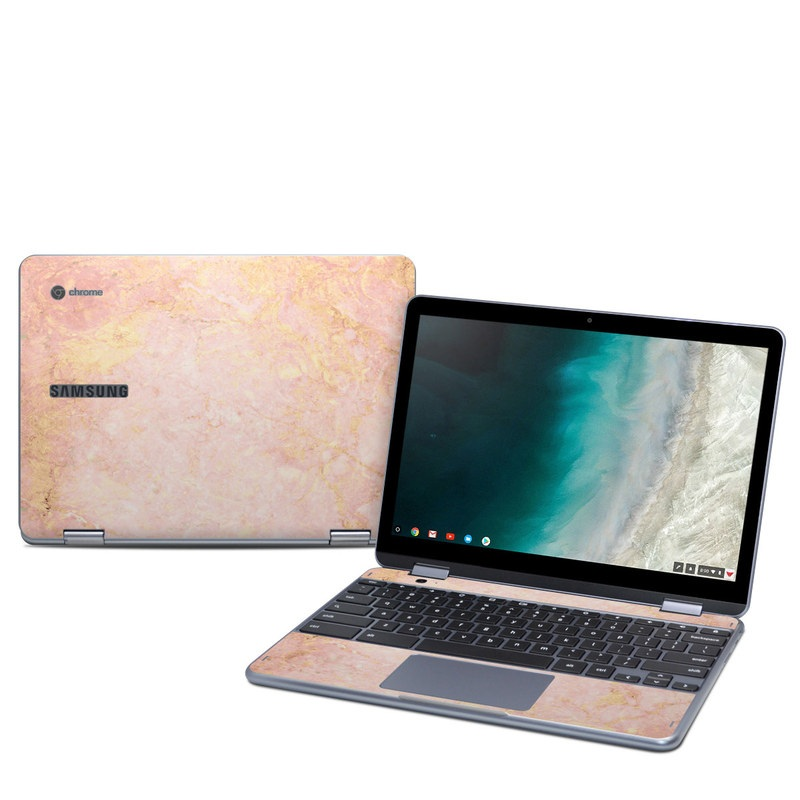 Rose Gold Marble Samsung Chromebook Plus 2019 Skin Istyles