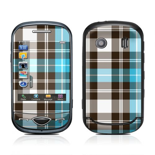 Turquoise Plaid Samsung Corby Plus Skin