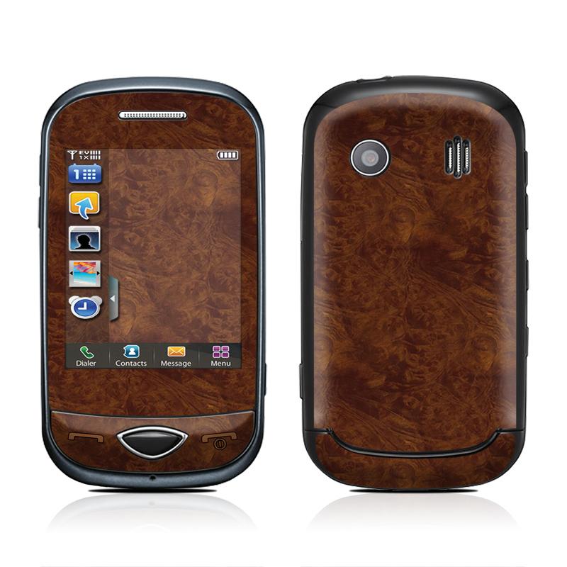 Dark Burlwood Samsung Corby Plus Skin