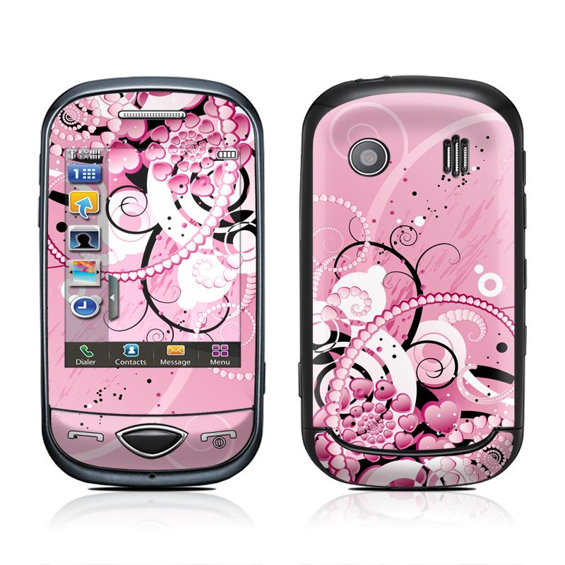 Samsung Corby Plus Skin design of Pink, Floral design, Graphic design, Text, Design, Flower Arranging, Pattern, Illustration, Flower, Floristry with pink, gray, black, white, purple, red colors